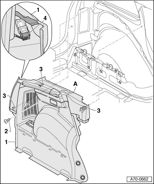 Audi Workshop Manuals A2 Body General Body Repairs Interior