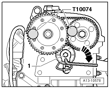 Removing_and_installing_coupling_drive_toothed_belt