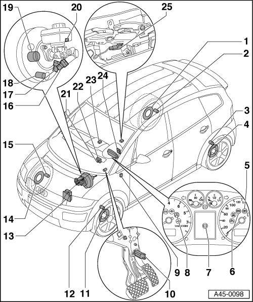 audi workshop manuals  u0026gt  a2  u0026gt  brake system  u0026gt  abs  adr  tcs  edl  esp  u0026gt  component overview  abs