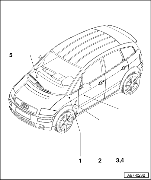 Audi Workshop Manuals A2 Vehicle Electrics Electrical System