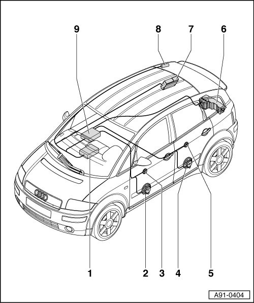 audi workshop manuals u003e a2 u003e vehicle electrics u003e radio telephone rh workshop manuals com Audi Manual Transmission audi a4 sound system manual