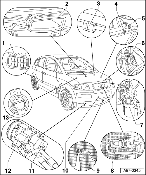 Air Conditioning System > Conditioner Ponents For Control And Regulation Of In The Engine Partment: Audi A2 Engine Diagram At Freddryer.co