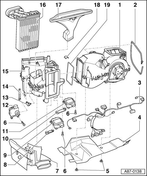 Audi Workshop Manuals A3 Mk1 Heating Ventilation Air