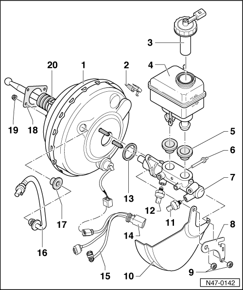 audi workshop manuals  u0026gt  a3 mk1  u0026gt  brake system  u0026gt  brakes