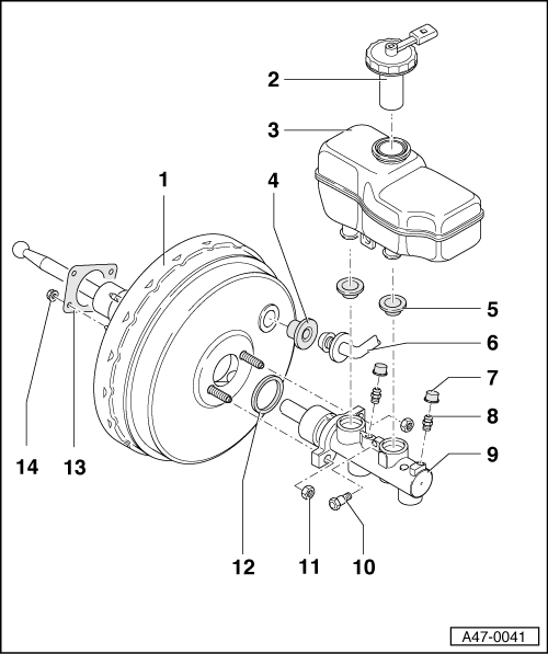 Audi Workshop Manuals A3 Mk1 Brake System Brakes Hydraulics