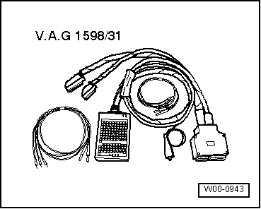 Checking  needle lift sender g80 furthermore 3 5mm Wiring Diagram moreover Checking lambda probe heating additionally Checking knock sensor moreover Checking engine speed sender. on connect wiring harness adapter