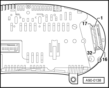audi a3 instrument cluster diagram