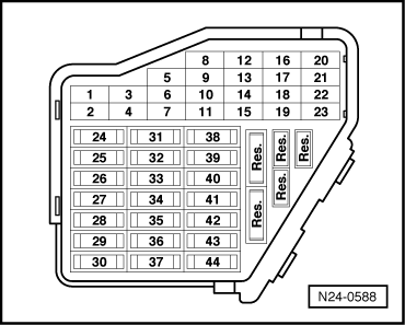 a3 9888 audi workshop manuals \u003e a3 mk1 \u003e vehicle electrics \u003e electrical audi a3 fuse box diagram at fashall.co