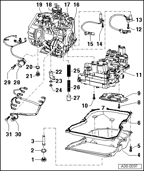 service manual  diagram of how a 2011 audi a3 transmission is removed