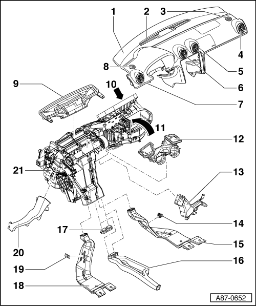 Audi Workshop Manuals A3 Mk2 Heating Ventilation Air
