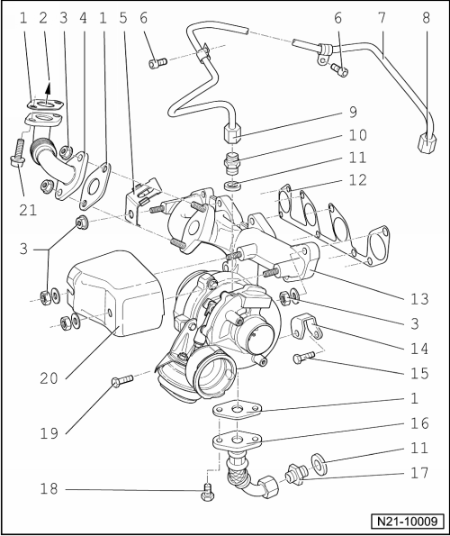 Power Unit > 4cylinder Tdi Injector Engine 19 Ltr 2valve Mechanics Exhaust Turbocharger Gcharger Servicing Charge Air System With: Audi 2 5 Tdi Engine Diagram At Hrqsolutions.co