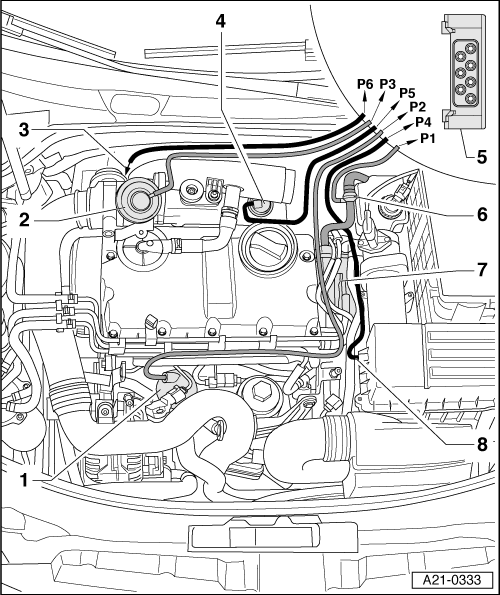 Audi Workshop Manuals > A3 Mk2 > Power unit > 4-cylinder TDI ... on infinity vacuum diagram, 1999 vw beetle vacuum diagram, dodge vacuum diagram, 2001 passat vacuum diagram, chrysler vacuum diagram, 1.8t vacuum diagram, 1997 jetta vacuum diagram, acura vacuum diagram, tdi vacuum diagram, bentley vacuum diagram, honda vacuum diagram, chevrolet vacuum diagram, 2000 passat vacuum diagram, gmc truck vacuum diagram, taotao vacuum diagram, mustang 5.0 vacuum diagram, h22a vacuum diagram, cadillac vacuum diagram, ford vacuum diagram, srt vacuum diagram,