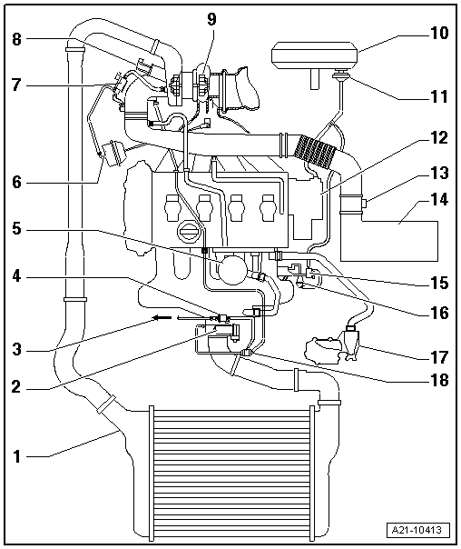Diagram 4 Cylinder Engine