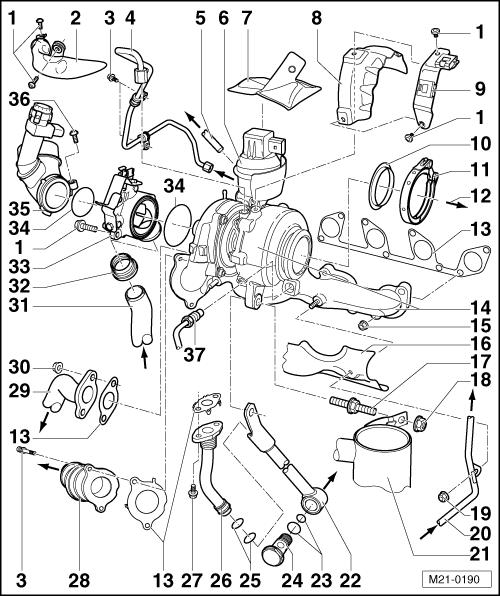 4 Cylinder Engine Diagram 3 View