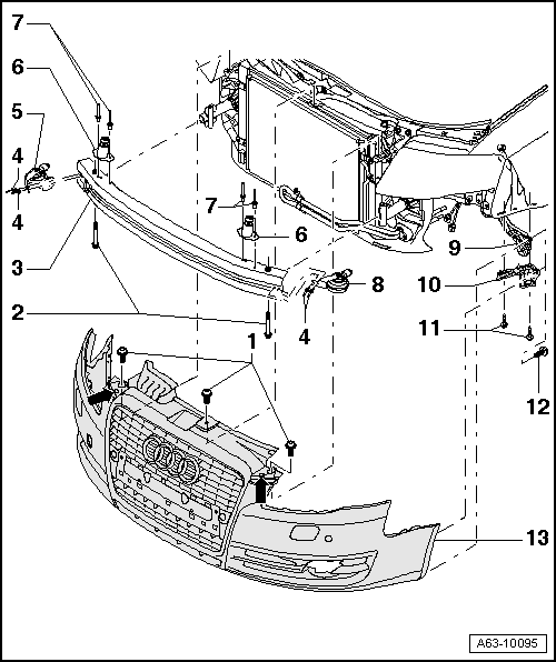 RepairGuideContent as well 2015 Golf Tdi Timing Belt Or Chain moreover Cvt Re0f10a Jf011e Re0f06a furthermore 2005 A4 2 0 Tdi Vacuum Diagram together with Exploded view of front bumper as of model year 2006. on audi parts diagram