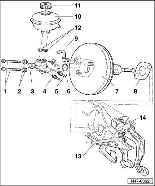 Audi Workshop Manuals A4 Mk1 Brake System Brakes Hydraulics