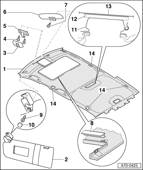 Audi Workshop Manuals A4 Mk1 Body General Body Assembly