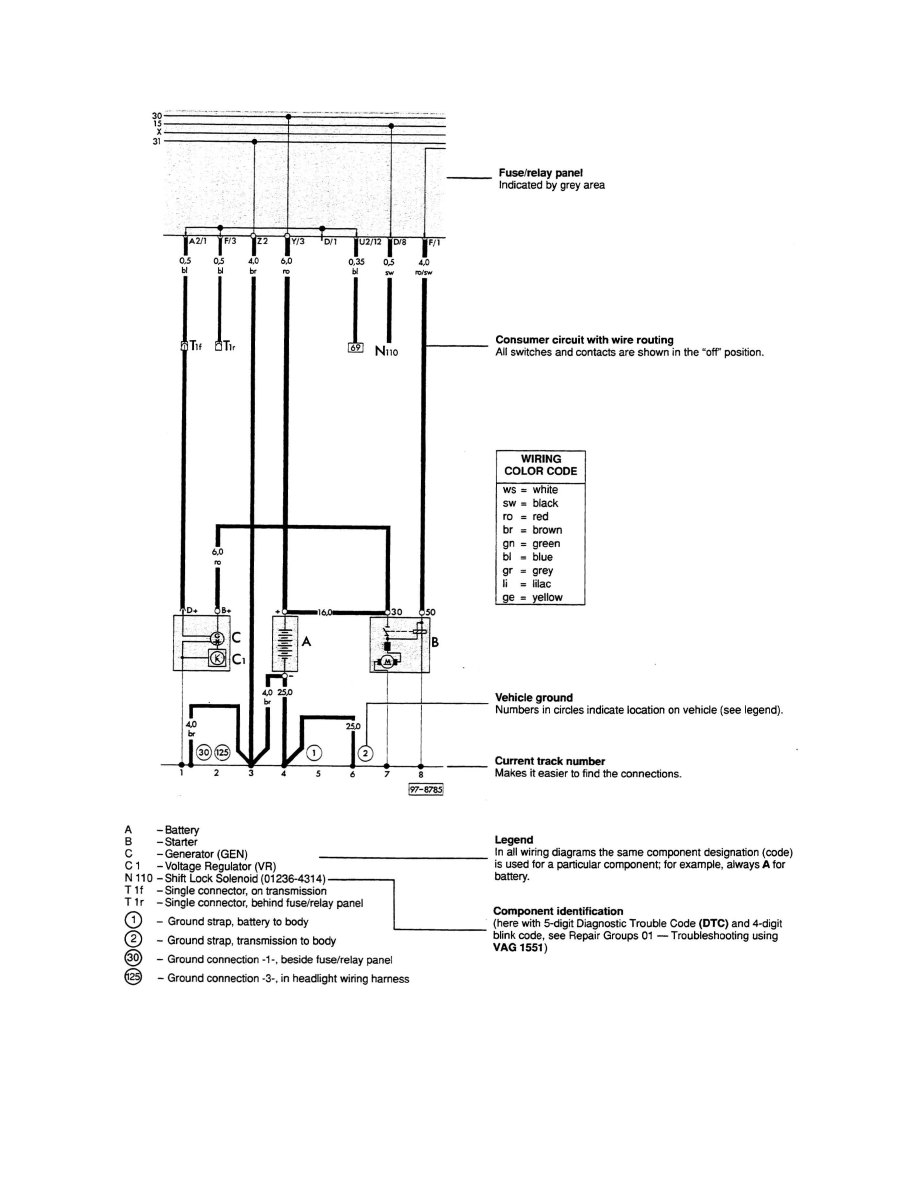 ... Temperature Sensor (Gauge) > Component Information > Diagrams > Diagram  Information and Instructions > Understanding Track Style Wiring Diagrams,  ...