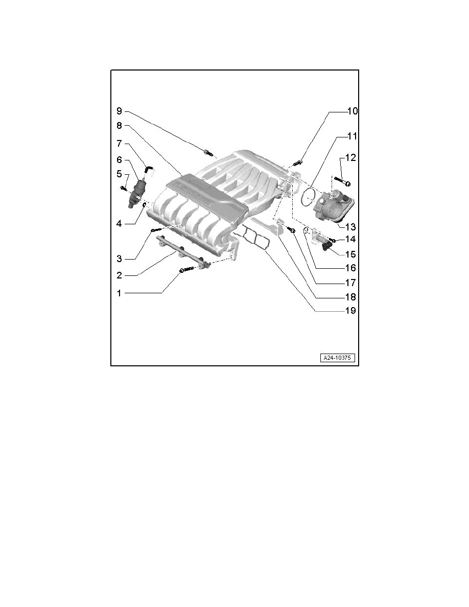 Audi Workshop Manuals > Q7 Quattro V6-3.6L (BHK) (2007) > Engine, Cooling  and Exhaust > Engine > Intake Manifold > Component Information > Service  and Repair > Intake Manifold, Assembly OverviewWorkshop Manuals