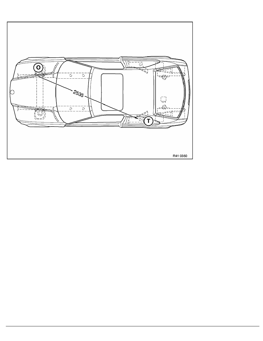 2 Repair Instructions > 41 Body (COMP) > 0 Body > 8 RA Frame Alignment  Control Dimensions Of Body, Plan View Of BMW E 36 Compact