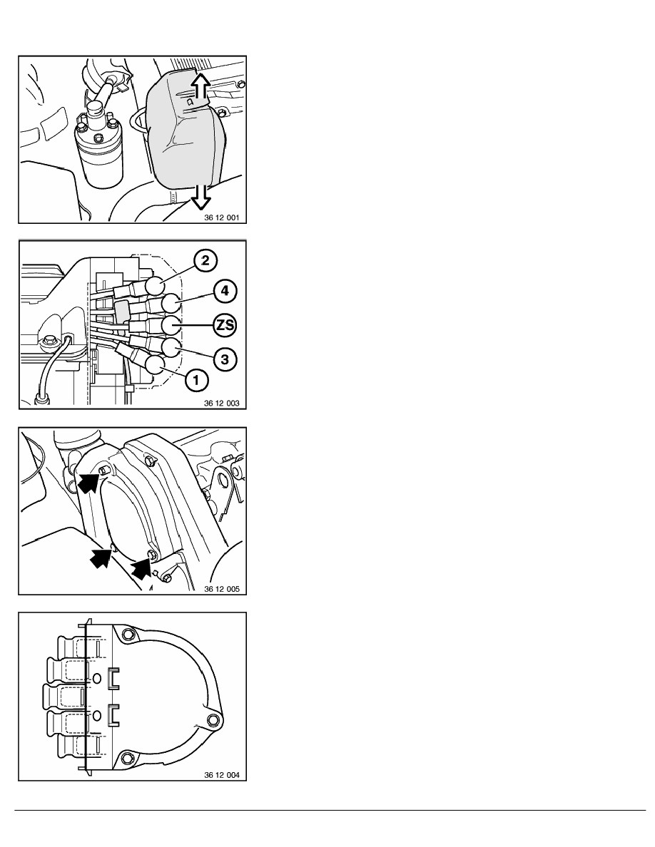 2 Repair Instructions > 12 Engine Electrical System (M40) > 11 Ignition,  Distributor, Cont.breaker > 1 RA Replacing Distributor Cap (M40)