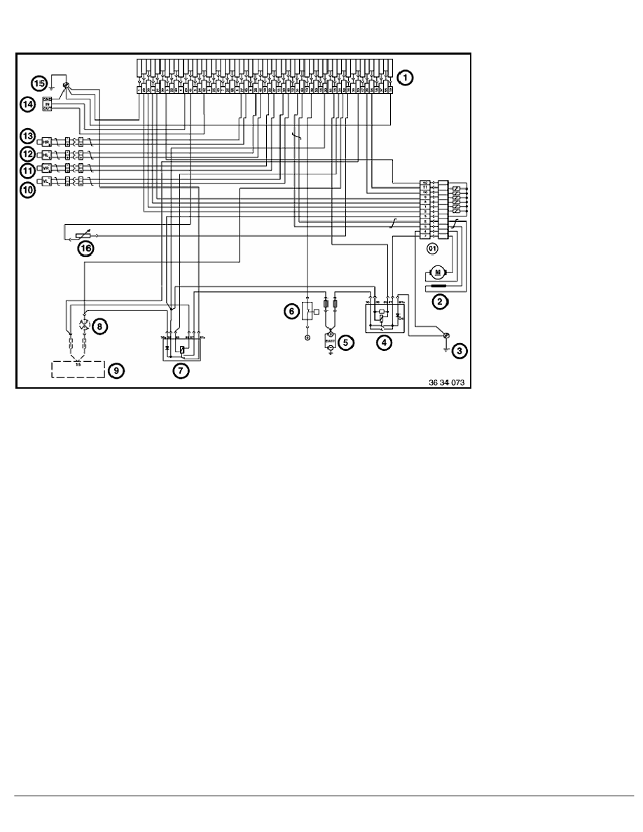 2 Repair Instructions > 61 General Electrical System > 12 Auxiliary Cable >  1 RA ABS Wiring Diagram