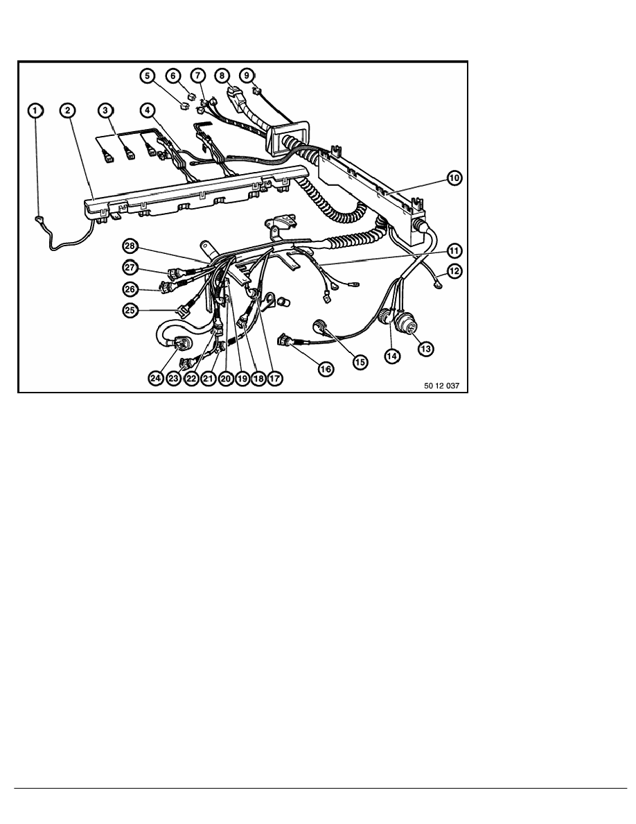 e36 bmw wiring system diagram wiring library Starcraft Wiring-Diagram 2 repair instructions 61 general electrical system 11 wiring harness 2 ra replacing