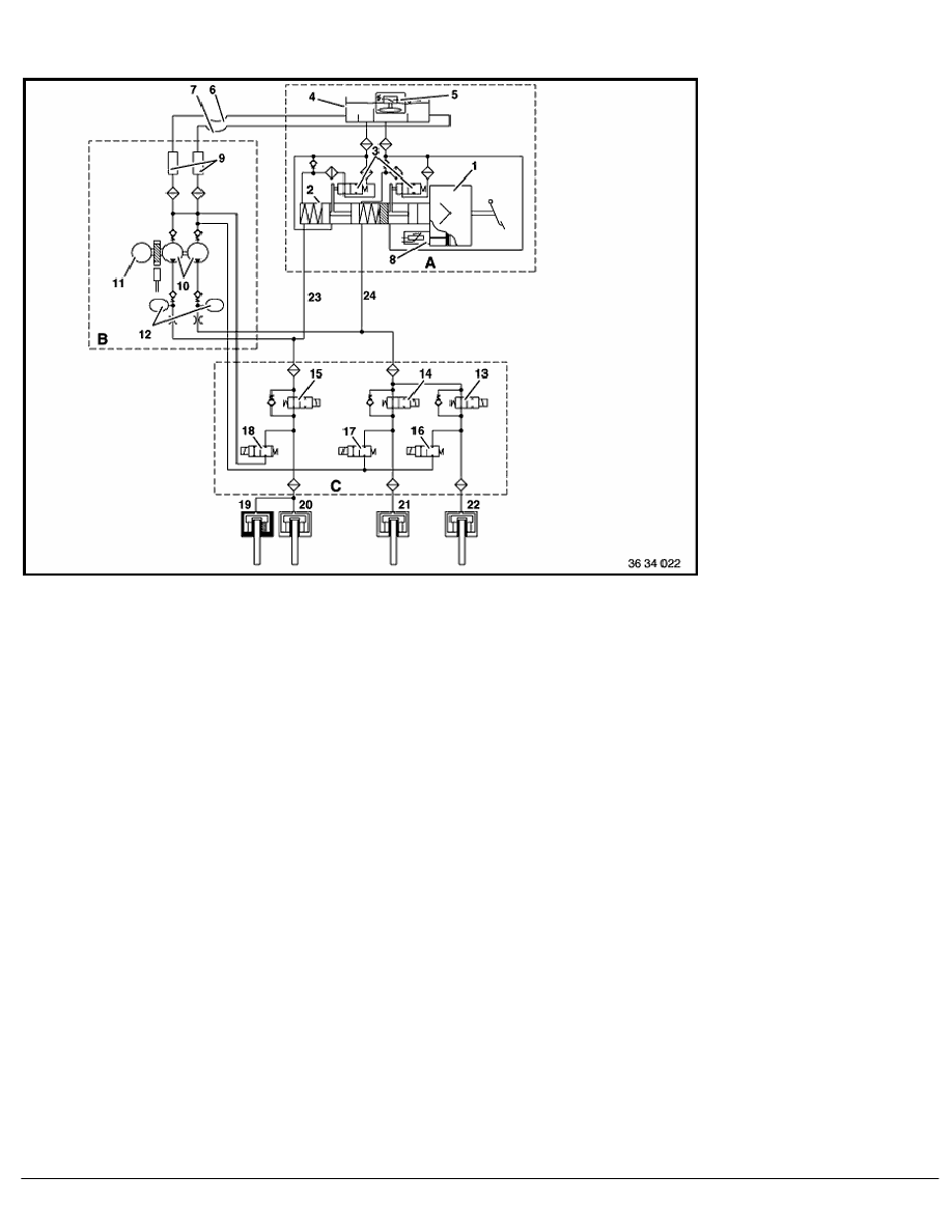 2 Repair Instructions > 34 Brakes > 50 Slip Control Systems (ABS, ASC) > 2  RA Teves Mark IV _ 3 ABS Hydraulic Wiring Diagram