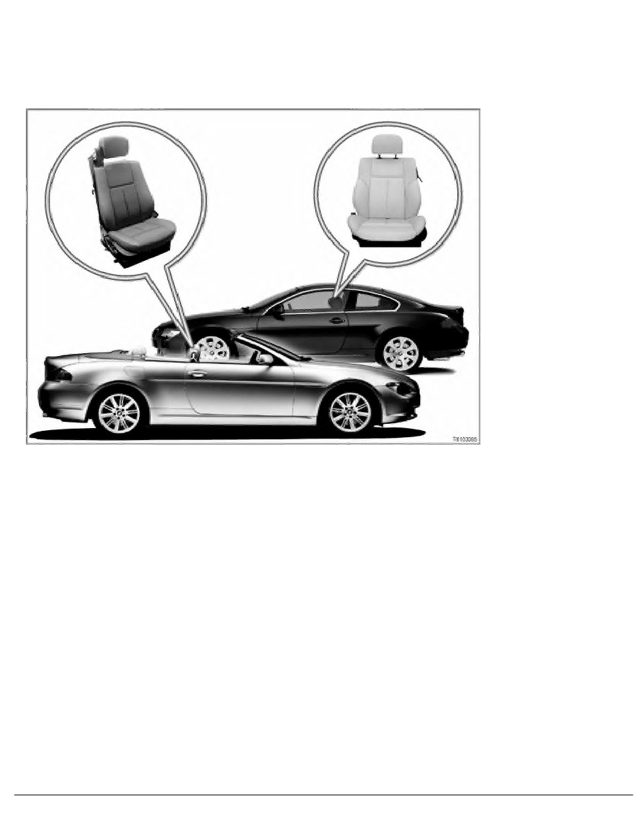 6 SI Techniques > 61 General Electrical System > 4 SBT Electrically  Adjustable Seats E63, ...