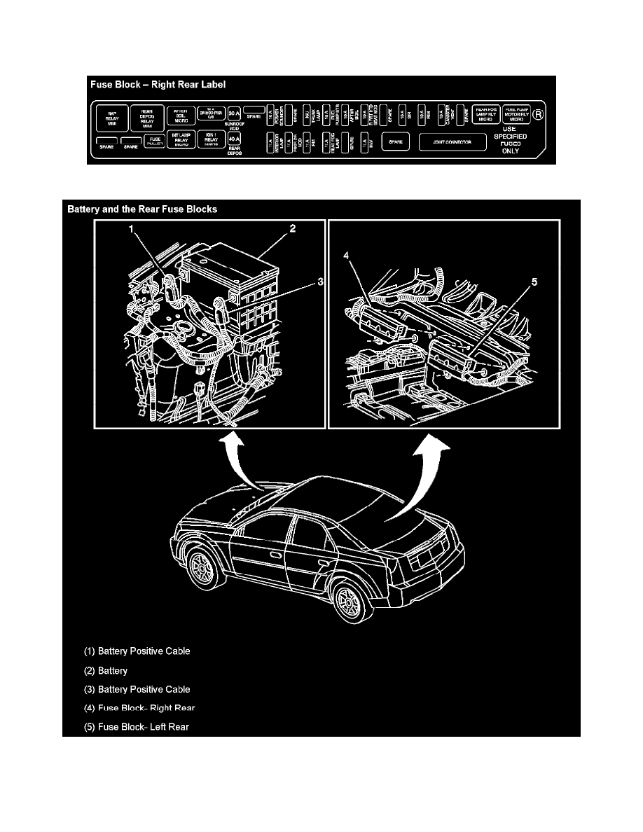 Cadillac Workshop Manuals Cts V6 32l Vin N 2003 Powertrain Rear Fuse Box Management Fuel Delivery And Air Induction Pump Relay Component Information Locations