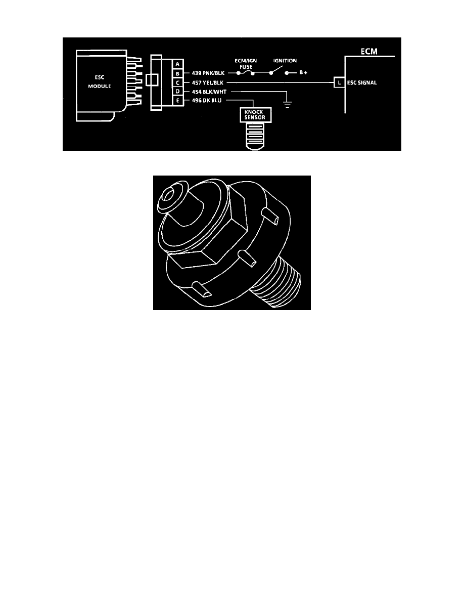 Powertrain Management > Computers and Control Systems > Electronic Spark  Timing <--> [Electronic Spark Control Module] > Component Information >  Description ...