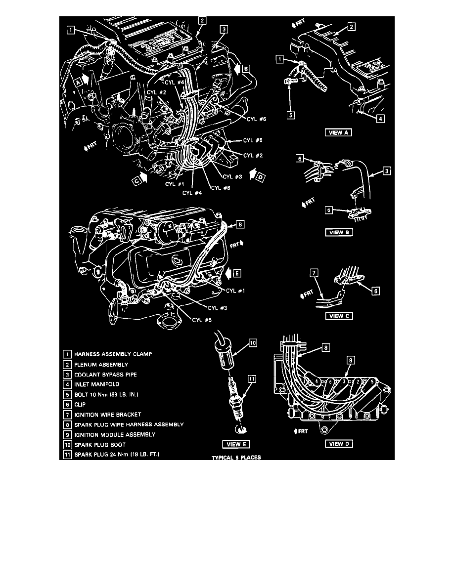 Chevrolet Workshop Manuals Cavalier Z24 V6 191 31l 1990 1989 Chevy Wiring Harness Engine Cooling And Exhaust Tune Up Performance Checks Spark Plug Wire Ignition Cable Component Information Technical
