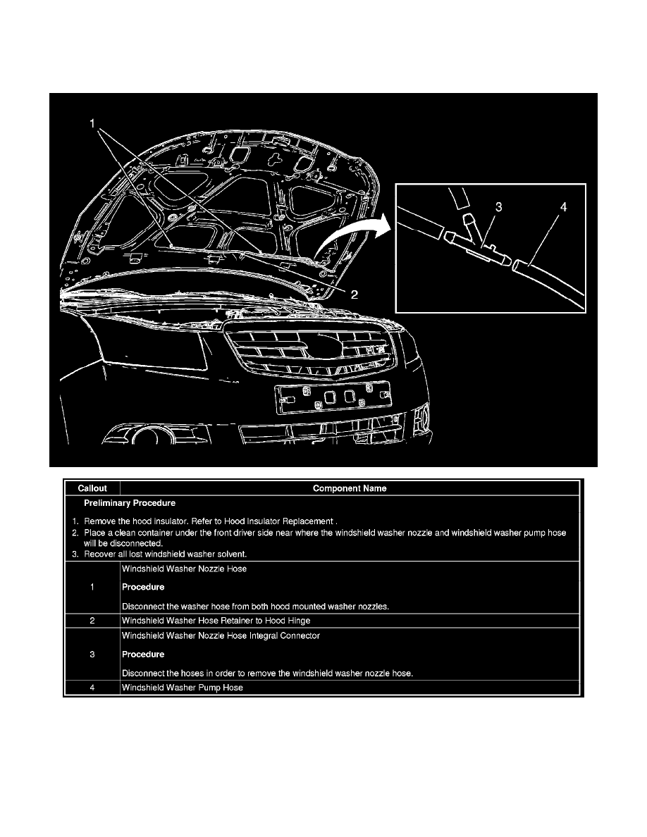 Chevrolet Cruze Repair Manual: Windshield Washer Pump Replacement