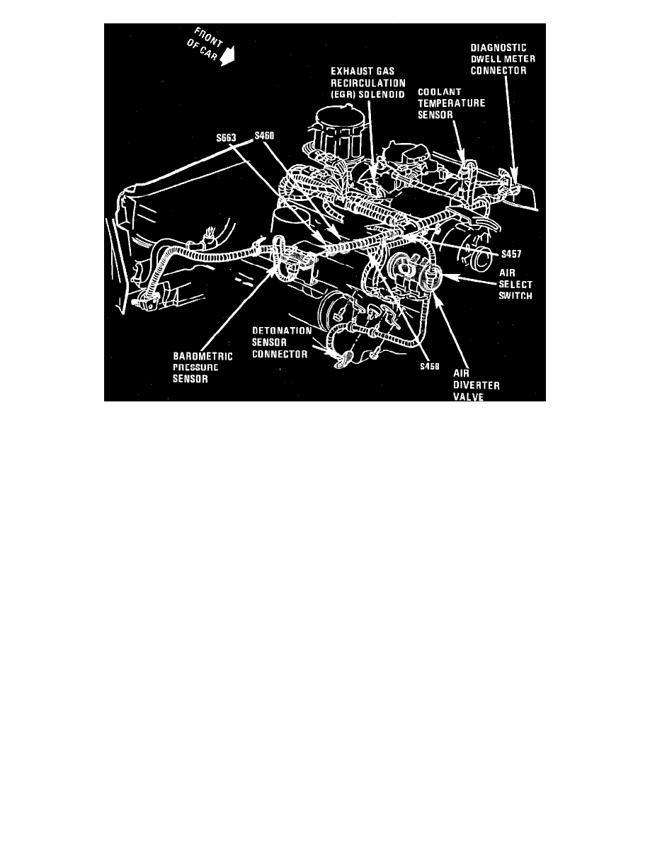 1989 Camaro Wiring Harness Library 89 F150 Temp Diagram Chevrolet Workshop Manuals U003e Monte Carlo V8 305 5 0l Vin H 4 Bbl 1987 Chevy Cooling Fan