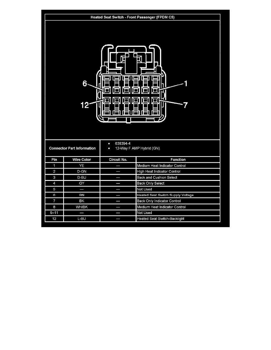 Chevrolet Workshop Manuals Silverado 1500 4wd V8 53l Vin B 2005 Heated Seat Wiring Diagram Body And Frame Seats Heater Switch Component Information Diagrams Driver Door Module Ddm C5 Memory Page 18535