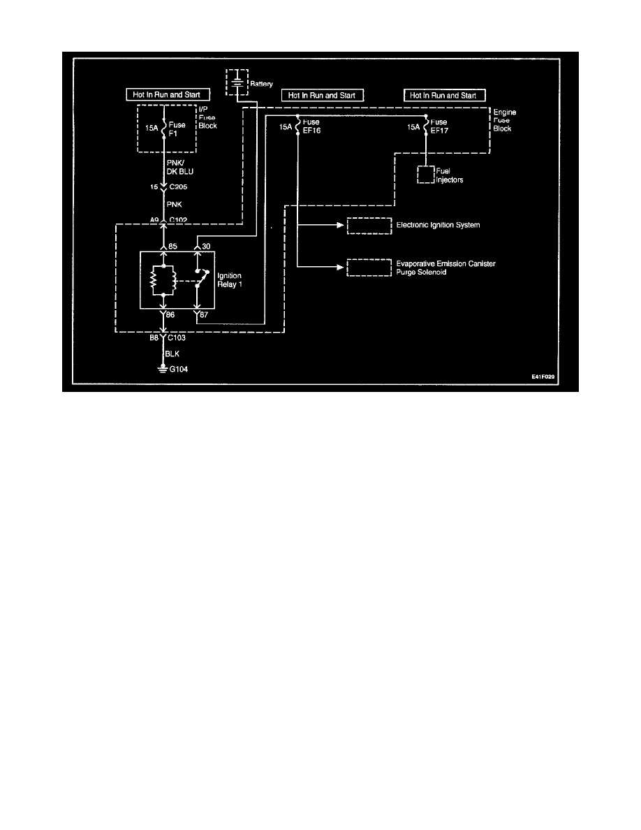Powertrain Management > Fuel Delivery and Air Induction > Main Relay  (Computer/Fuel System) > Component Information > Testing and Inspection