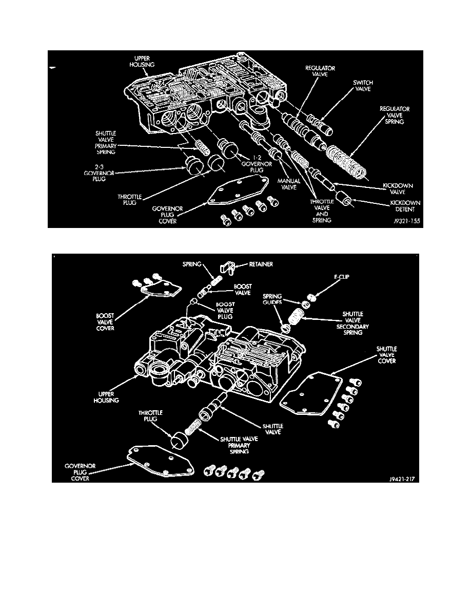 dodge workshop manuals \u003e dakota r t 2wd v8 5 9l vin z (1998 Dodge 44RE Transmission Pan