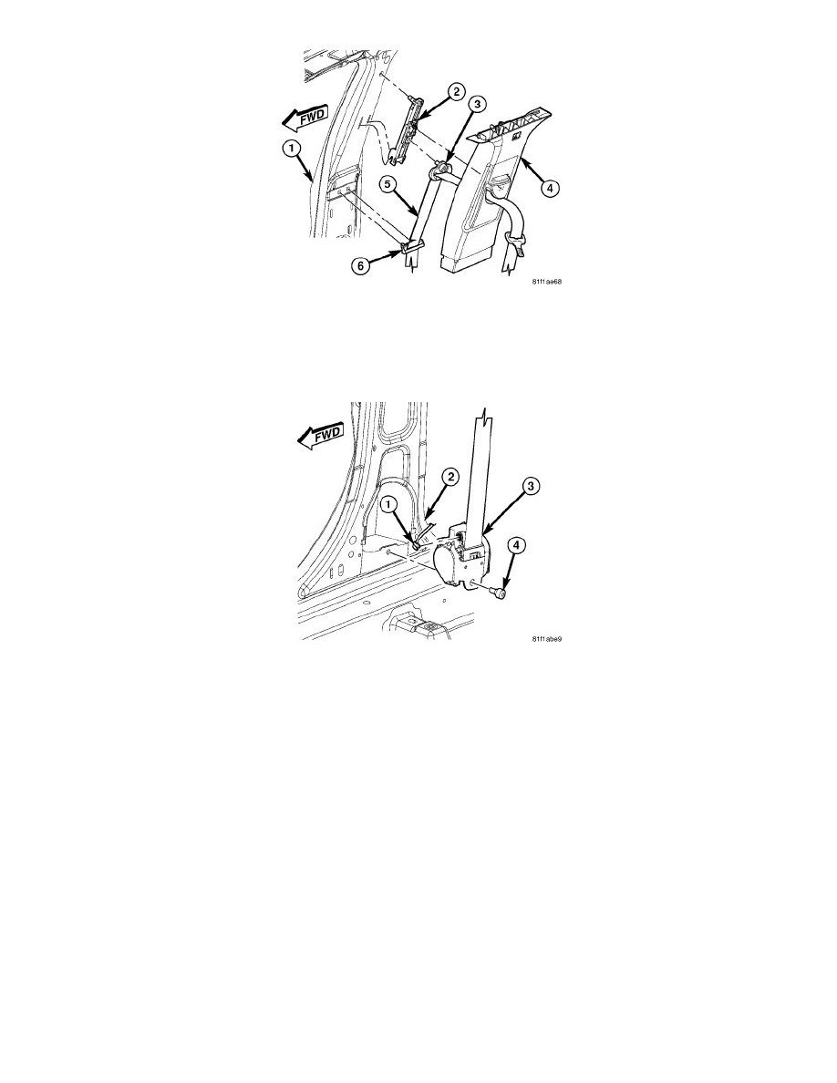 Restraint Systems > Seat Belt Systems > Seat Belt Retractor > Component  Information > Service and Repair > Seat Belt Retractor - Removal > Page 7699