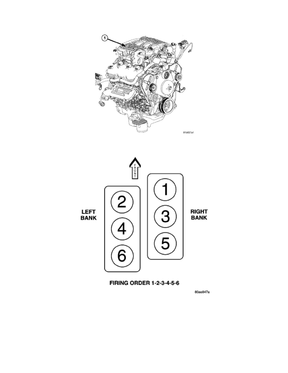 Dodge 3 8 Engine Diagram Wiring Library 2007 Charger Powertrain Management Tune Up And Performance Checks Firing Order Component Information