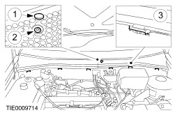 Accessory drive belt 1 25l duratec 16v  sigma  1 4l duratec 16v  sigma  1 moreover Guide Safe Loading Towing likewise Accessory drive belt vehicles without accessory drive belt tensioner furthermore RepairGuideContent together with Cowl panel grille. on caution knife