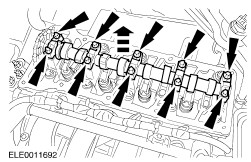 Camshaft on timing and valve train camshaft