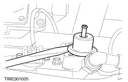 7 3 Ford Camshaft Position Sensor Location also 97 Ford Powerstroke Fuel Filter Housing besides T4290999 Need vacuum hose diagram 2001 ford furthermore Fuel pressure regulator as well Engine Lifting Eye. on ford 6 0 fuel pressure regulator