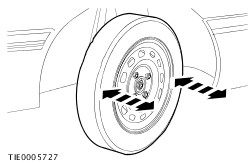 With The Aid Of Another Technician Holding Steering Against Left Hand Lock Stop Firmly Grasp Road Wheel And Ly A Rocking Motion