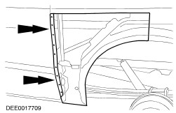 Lower quarter panel section besides P 0996b43f8037f8c1 as well 2010 Mazda 3 Part Diagram likewise Rodhole furthermore 099gd 2003 Ford Expedition Clicking Pulsating. on quarter panel damage