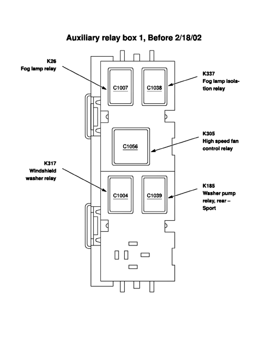 2004 Sport Trac Fuse Box Wiring Library 2008 Ford Explorer Diagram 2002 Data Page 2212001