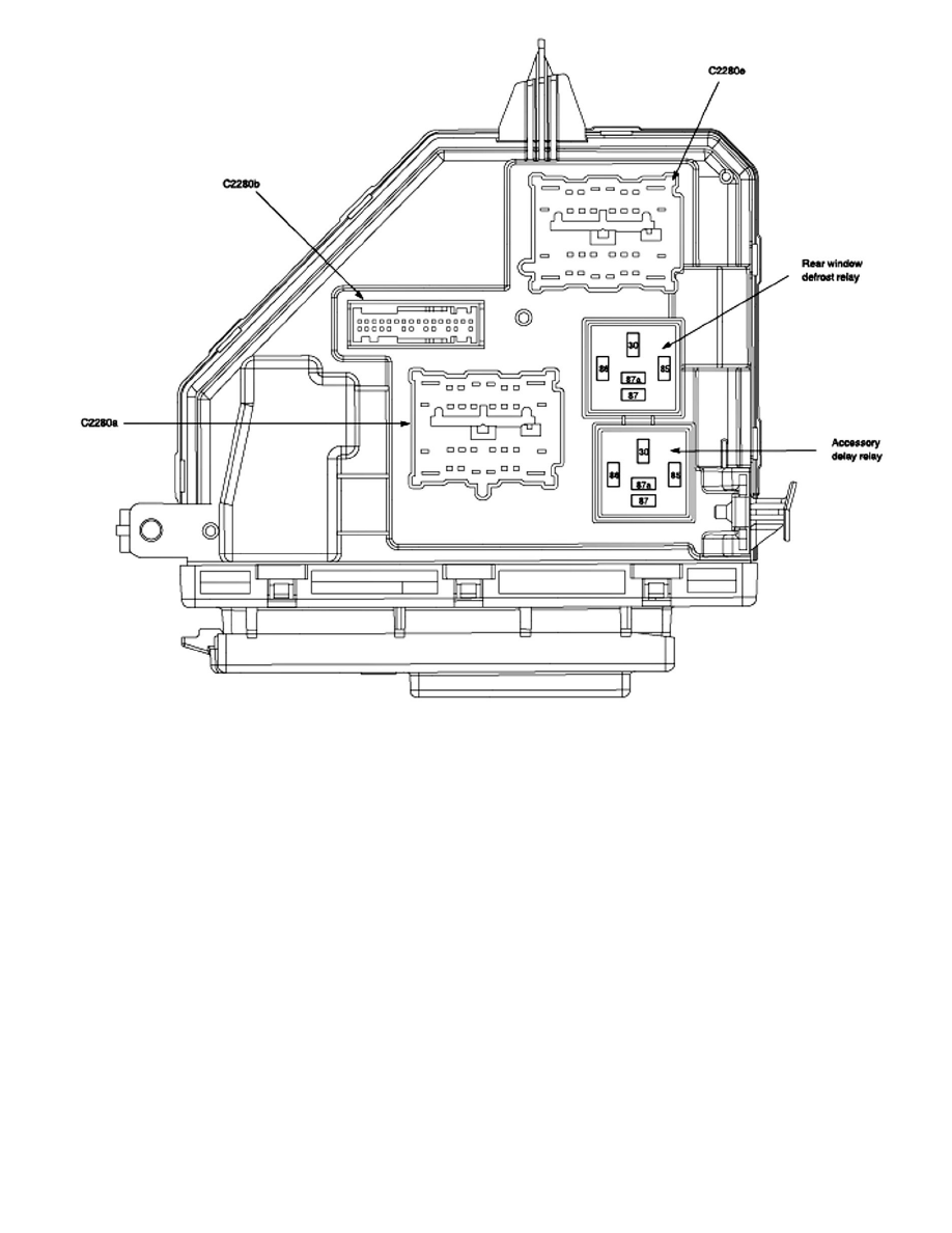 2004 ford taurus smart junction box diagram