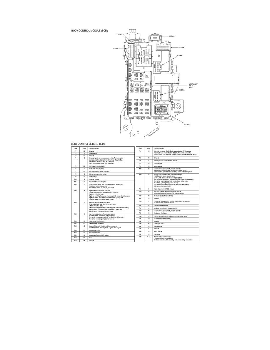 Ford Workshop Manuals F 350 4wd Super Duty V8 62l Flex Fuel 2011 Fuse Box Power And Ground Distribution Component Information Locations Battery Junction Bjb Page 988