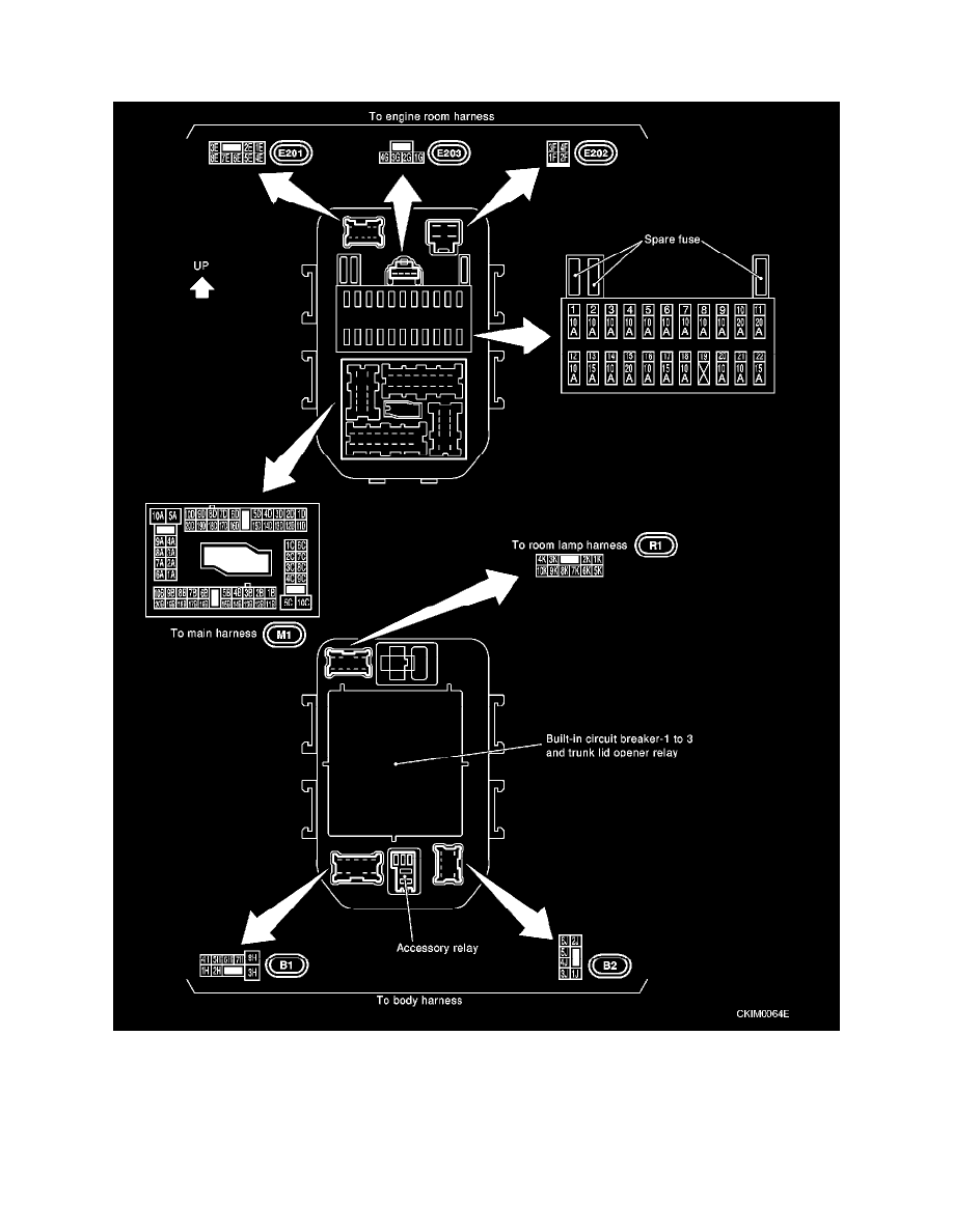 infiniti workshop manuals \u003e q45 v8 4 5l (vk45de) (2002 1998 infiniti q45 fuse box diagram at Infiniti Q45 Fuse Box Diagram