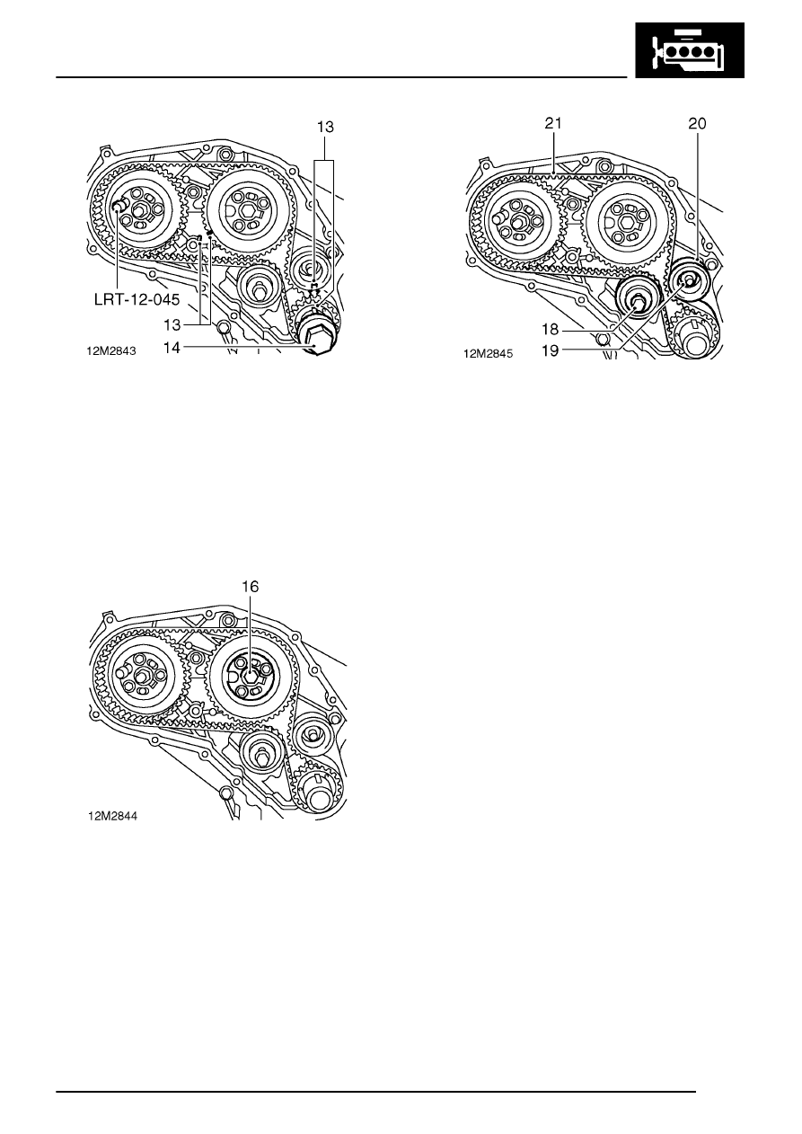 Land Rover Workshop Manuals 300tdi Engine Overhaul Timing Belt Tensioner And Gears Remove Page 29