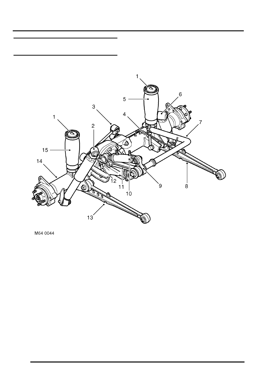 land rover air suspension diagram